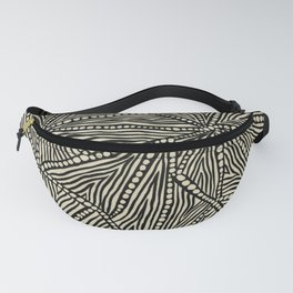 Black and Ivory Triangles Fanny Pack