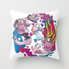 Guerre sante Throw Pillow