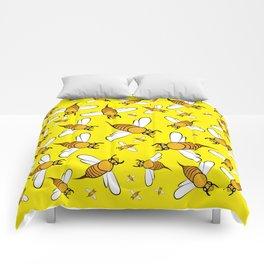 Bees on Yellow Comforters