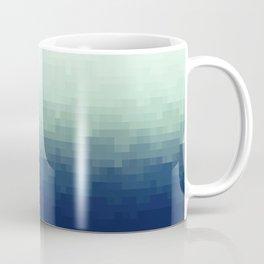 Gradient Pixel Aqua Coffee Mug