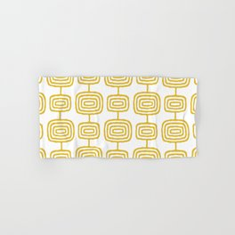 Mid Century Modern Atomic Rings Pattern Mustard Yellow 3 Hand & Bath Towel