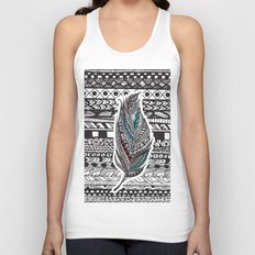 Aztec Feather. Unisex Tank Top
