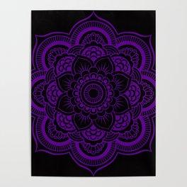 Deep Purple Mandala Poster