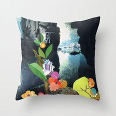Cave Garden IV Throw Pillow