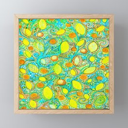 Abstract Citrus pattern drawing Framed Mini Art Print