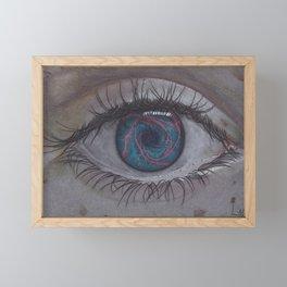 Eye 1# Rose Framed Mini Art Print