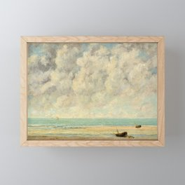 Gustave Courbet - The Calm Sea Framed Mini Art Print