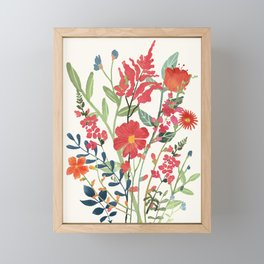 Beautiful Flowers Framed Mini Art Print