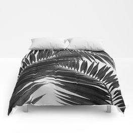 Palm Leaf Black & White III Comforters