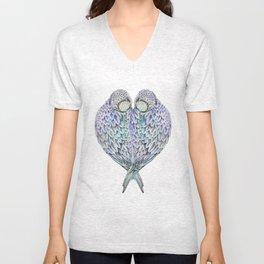 LOVE BIRDS IN COLOUR Unisex V-Neck