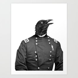 Civil War Raven Art Print