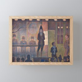 Circus Sideshow by Georges Seurat, 1887 Framed Mini Art Print