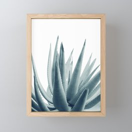 Agave Blue Vibe #1 #tropical #decor #art #society6 Framed Mini Art Print