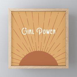 Girl Power - Gold Framed Mini Art Print