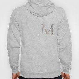 M - Floral Monogram Collection Hoody