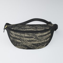 Don't Tread On Me Distressed Motorcycle Art Fanny Pack