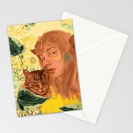Camille with  Cat Stationery Cards