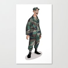 I'm going to Army Canvas Print
