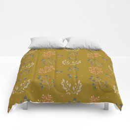 Mustard Yellow Fall Floral Comforters
