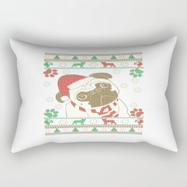 Boston Terrier - Merry Christmas Rectangular Pillow