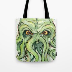 Cthulhu HP Lovecraft Green Monster Tentacles Tote Bag