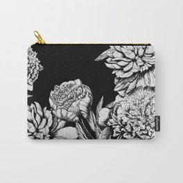 FLOWERS IN BLACK AND WHITE Carry-All Pouch