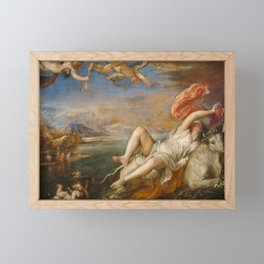 "Titian (Tiziano Vecelli) ""The abduction of Europa"", 1562 Framed Mini Art Print"