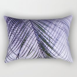 Palm Leaves On A Violet Background #decor #society6 #buyart Rectangular Pillow