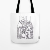 christian Tote Bags featuring Christian service by Shelby Claire
