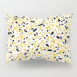 Terrazzo Memphis gold black white Pillow Sham