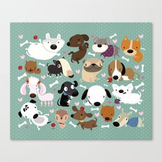 Dog pattern Canvas Print