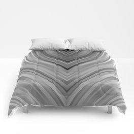 stripes wave pattern 3 bwgri Comforters