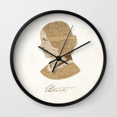 Charlotte Bronte  Wall Clock