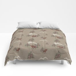 Moose and Mountains Pattern Comforters