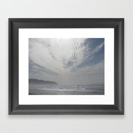 Wondrous Clouds Framed Art Print
