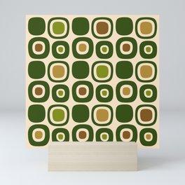 Mid Century Modern Garden Path Pattern 321 Mini Art Print