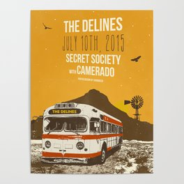 THE DELINES - July 10th, 2015 @ Secret Society, Portland, OR Poster
