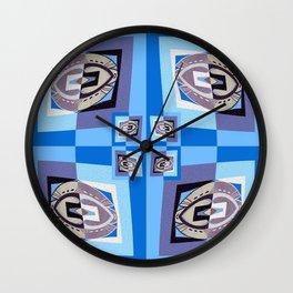 Retro Midcentury Optical Illusion Geometric Color Study Wall Clock