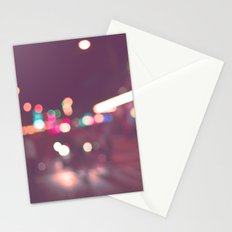 Street Bokeh Stationery Cards