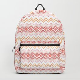 Neutral Beauty Zig Zag Diamonds Backpack