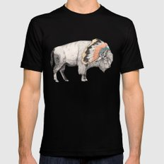 White Bison Black Mens Fitted Tee MEDIUM