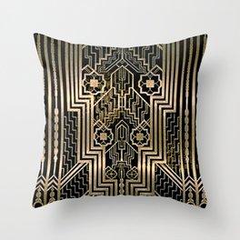 Art Nouveau Metallic design Throw Pillow