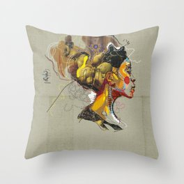 Erykah Badu - Soul Sister | Soul Brother Throw Pillow
