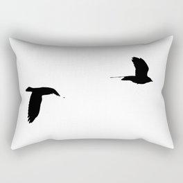 as the crow flies Rectangular Pillow