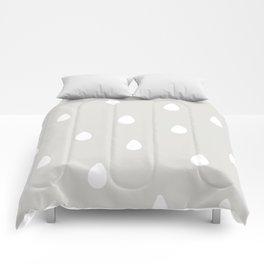 Gray Raindrop - Baby Room Pattern Comforters