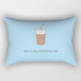 this is my thinking cap Rectangular Pillow