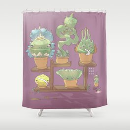 August's Plants Shower Curtain