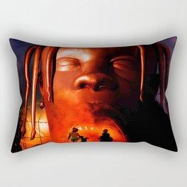 Travis Scot Astroworld Dark Rectangular Pillow