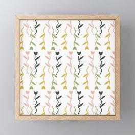 Dancing Tulips Floral Pattern Framed Mini Art Print