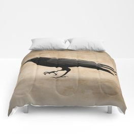 Rustic Crow Black Bird Modern Country Mordern Cottage Art A491 Comforters